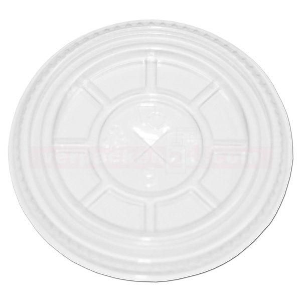 Clear Cup Flachdeckel mit Kreuzschlitz PET, klar - für Ø 78 mm