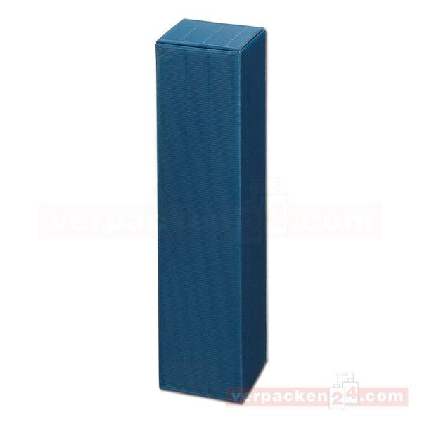 Wein-Flaschenverpackung Modern - uni saphir blau