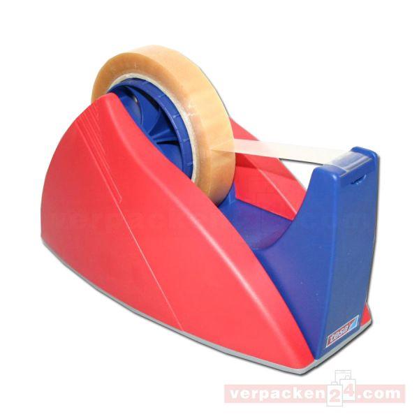Tesa-Tischabroller, Kunststoff, rot (Modell 2004) - bis 66/25 mm