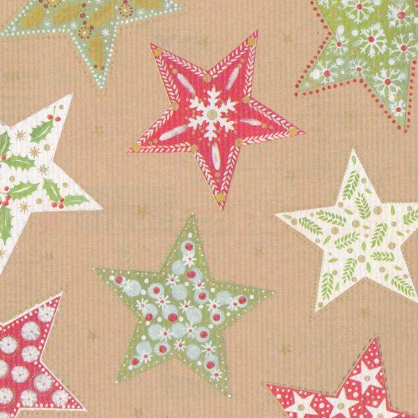 Weihnachts Geschenkpapier St 917279, Rolle 50cm, Sterne Umwelt