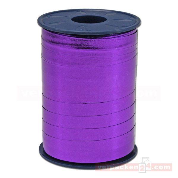 Glanzband metallisiert - 8 mm - Rolle 250 m - violett (610)