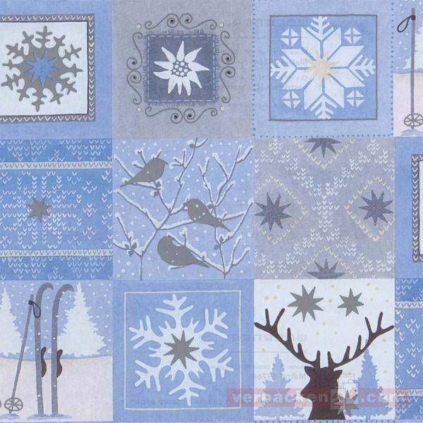 Weihnachts Geschenkpapier W 49264, Rolle 50 cm - Wintermotiv