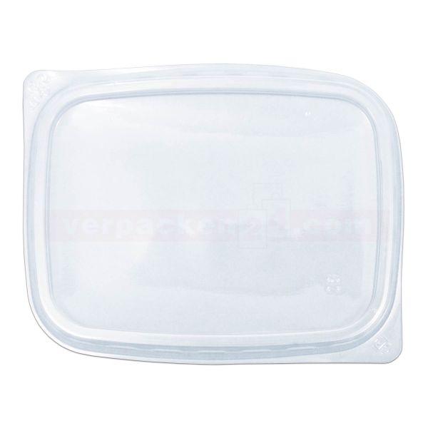 Feinkostbecher KR eckig - Deckel - Polypropylen klar - 108x82mm