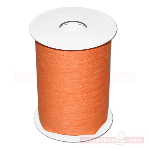 Baumwoll-Ringelband 5 mm, Rolle 200 mtr - orange (40)