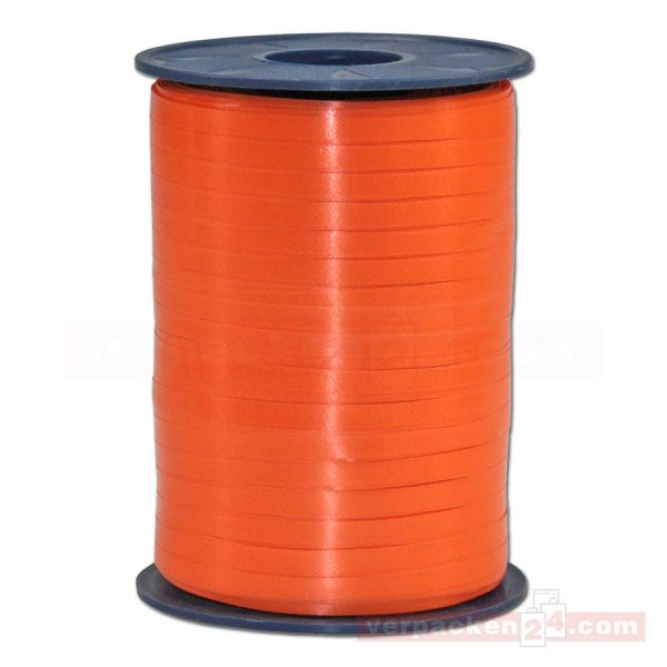 Glanzband auf Rolle 500 mtr., 5 mm - orange (620)