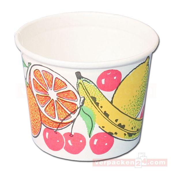 Eisbecher aus Hartpapier, Neutraldruck Früchte Classic - 140 ccm