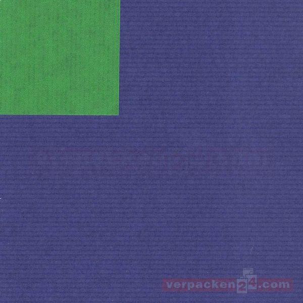 Geschenkpapier, neutral B 119001, Rolle 50 cm - blau/grün