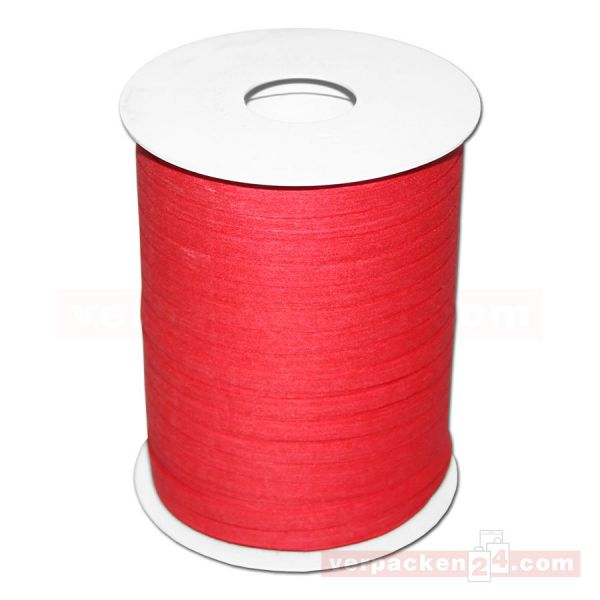 Baumwoll-Ringelband 5 mm, Rolle 200 mtr - rot (20)