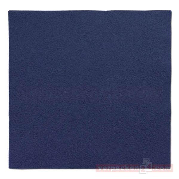DUNI Zelltuch-Servietten, 1-lg, 1/4 Falz, 33x33cm - dunkelblau
