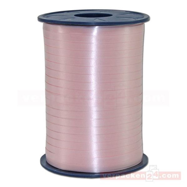 Glanzband auf Rolle 500 mtr., 5 mm - rose (120)