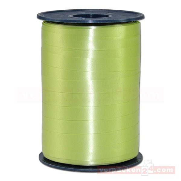 Glanzband auf Rolle 250 mtr., 9 mm - grüngelb (027)