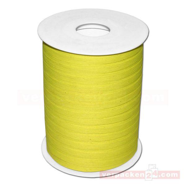 Baumwoll-Ringelband 5 mm, Rolle 200 mtr - limone (53)