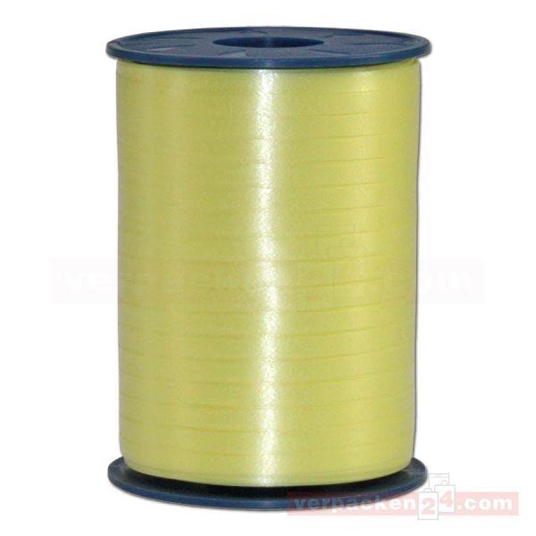 Glanzband auf Rolle 500 mtr., 5 mm - gelb (615)