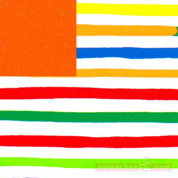 Geschenkpapier, neutral St 913077, Rolle 50 cm - Streifen bunt