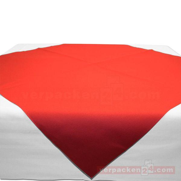 Tischdecken Mank, Airlaid Basics - rot - Bogen 80x80 cm