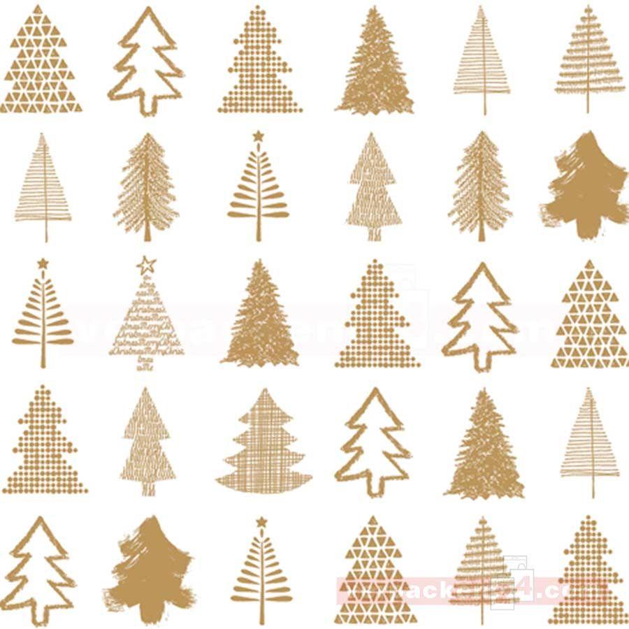 Weihnachtspapier Tannen weiß/gold Rollen 50cm | verpacken24.com ...