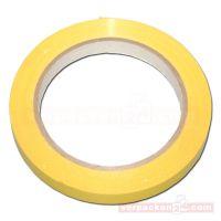 Klebeband (PVC), farbig, gelb, Rolle 66 m - 12 mm