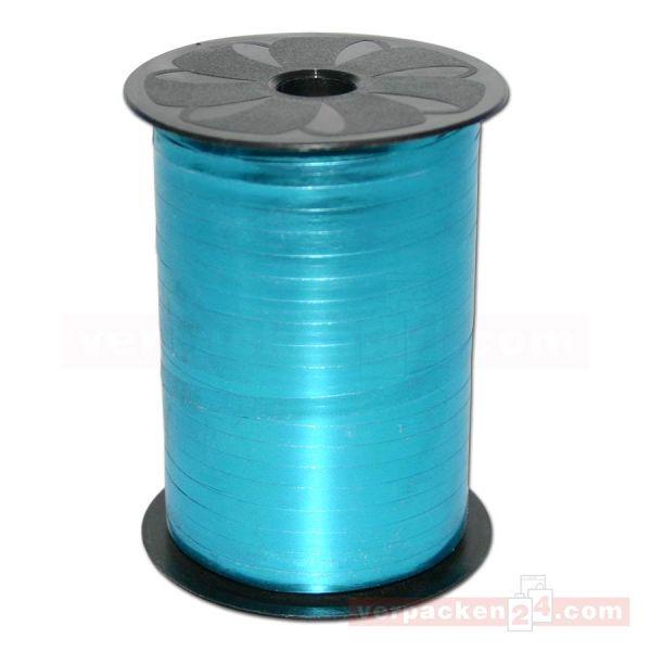 Glanzband metallisiert - 5 mm - Rolle 400 m - hellblau (612)
