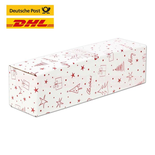 Versandkarton DU-LOG Merry Christmas, 1 Flasche - Umkarton - PTZ-Postgeprüft