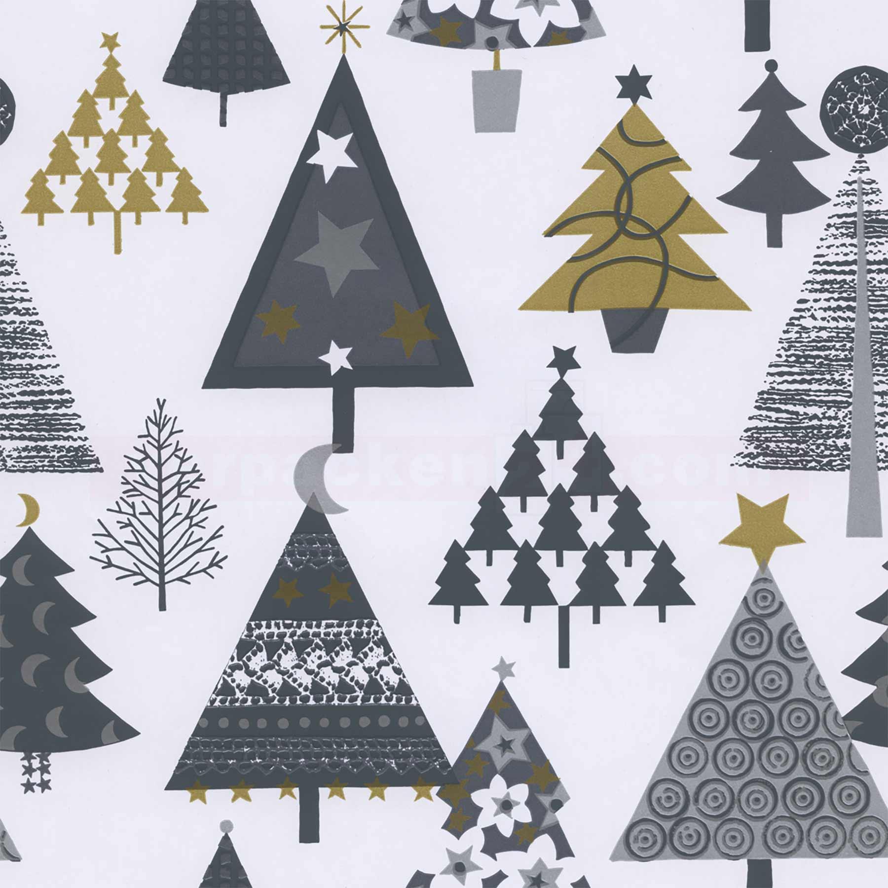 Weihnachtsgeschenkpapier Woerner 59113 Tannen silber | verpacken24 ...