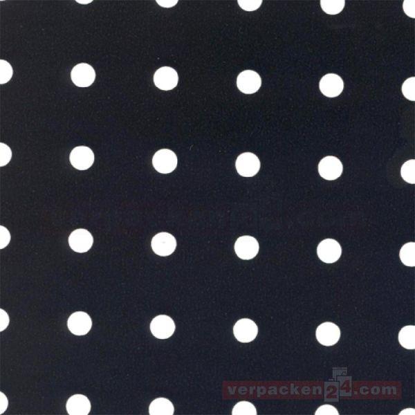 Geschenkpapier, neutral B 86660, Rolle 50 cm - schwarz Punkte