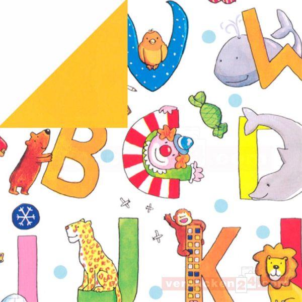 Geschenkpapier Kinder, neutral St 37142, Rolle 50 cm, ABC