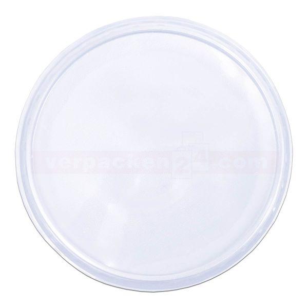 Paniermehlbecher rund - Deckel - Polypropylen klar
