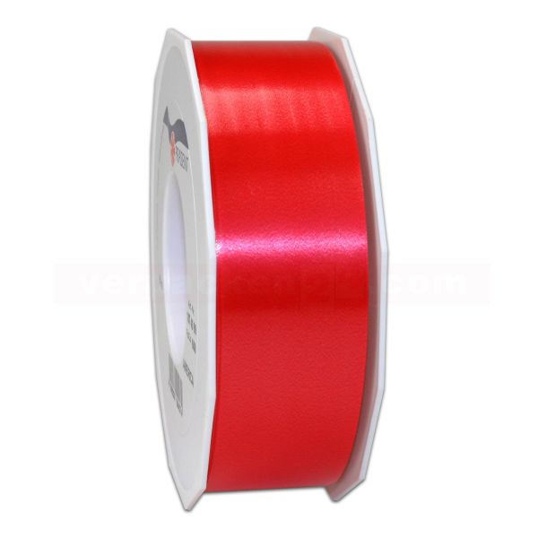 Glanzband auf Rolle 091 mtr., 40 mm - rot (609)