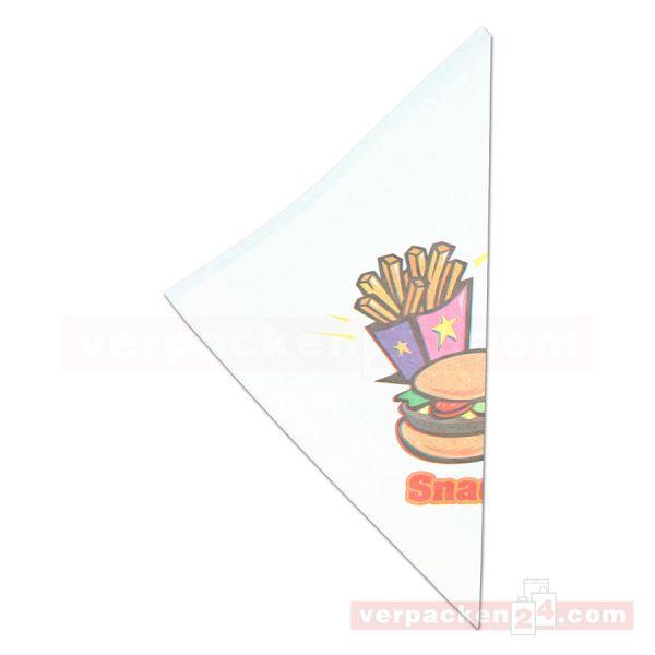 Pommes-Frites Spitztüten, Neutraldruck Snack - K 21 Snack