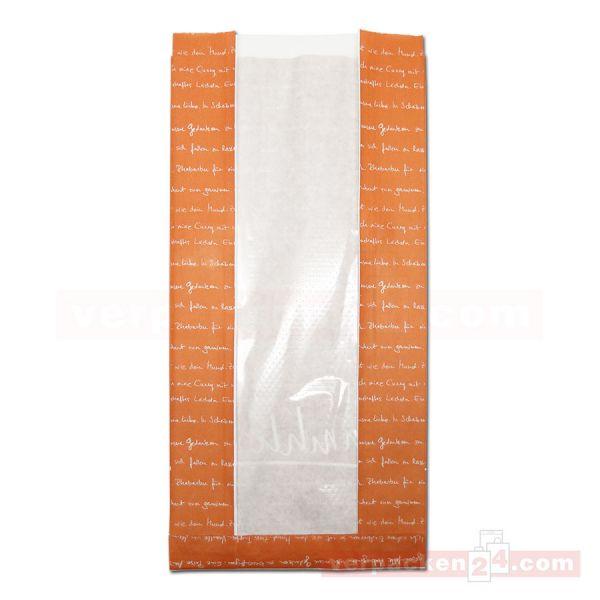 Sichtstreifenbeutel - Serie mmmhh - 20+8,0x41cm - orange