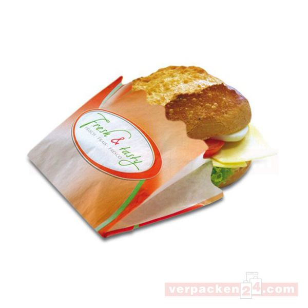 Snack - Snackbeutel - Fresh&Tasty - 12+5x9 cm
