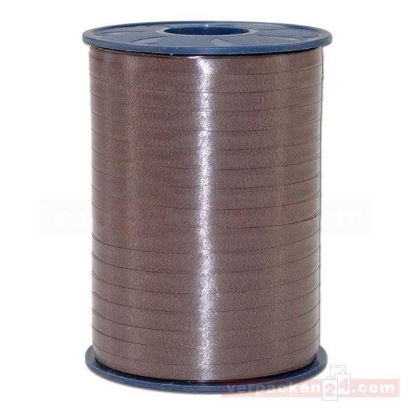 Glanzband auf Rolle 500 mtr., 5 mm - dunkelbraun (523)