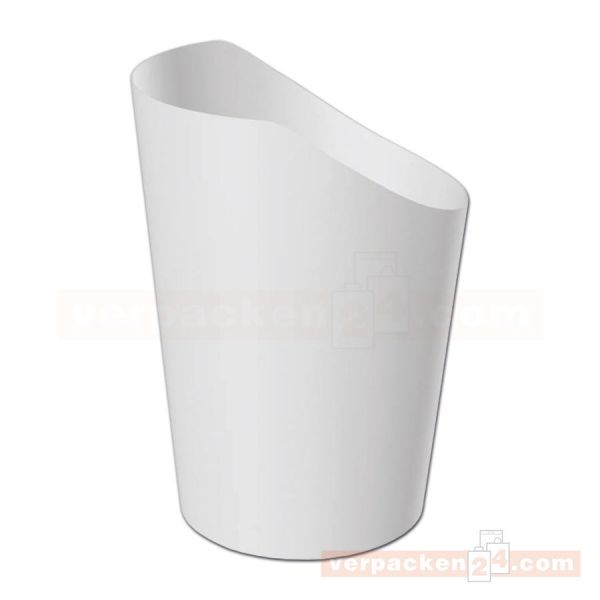 Wrap-Cup weiß - neutral - aus Hartpapier - 80x98mm (6 oz)