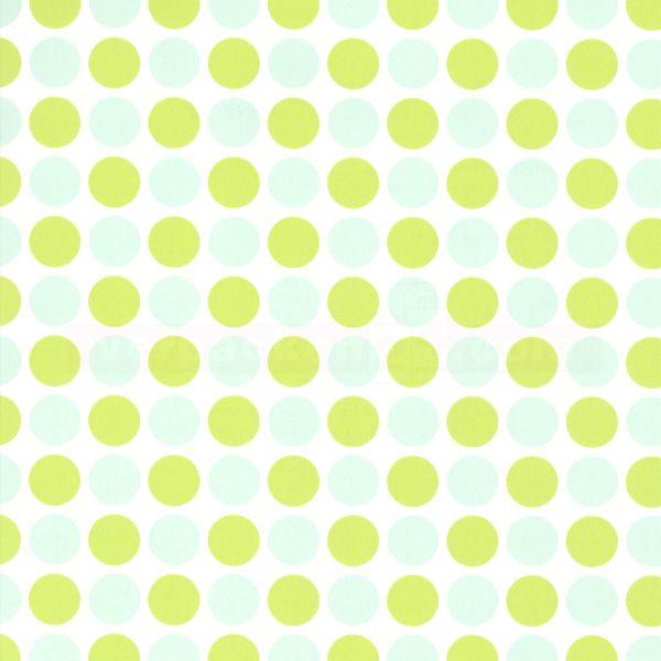Geschenkpapier, neutral St 915061, Rolle 50 cm - Punkte grün