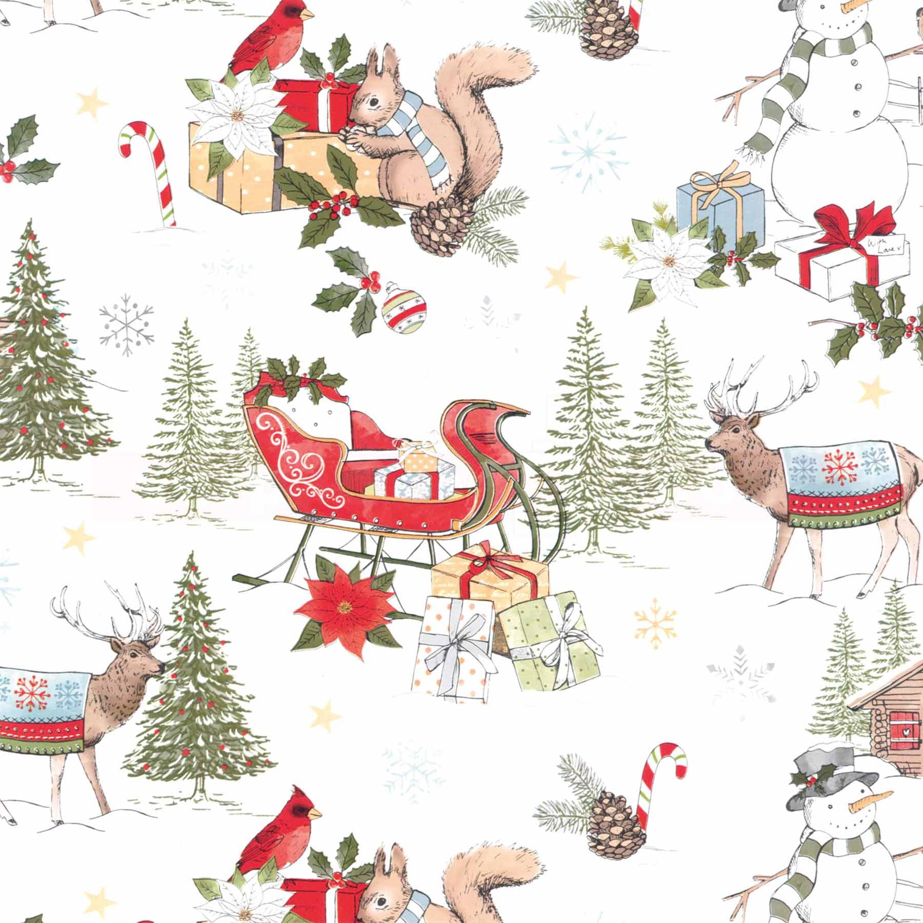 Geschenkpapier Weihnachten Stewo 918232 Winterlandschaft ...