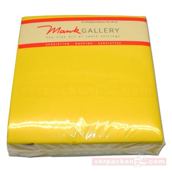Servietten aus Airlaid farbig, 40x40 cm - 1/4 Falz - gelb