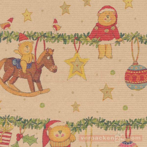 Weihnachts Geschenkpapier St 19818, Rolle 50 cm