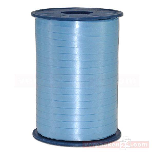 Glanzband auf Rolle 500 mtr., 5 mm - zartblau (602)
