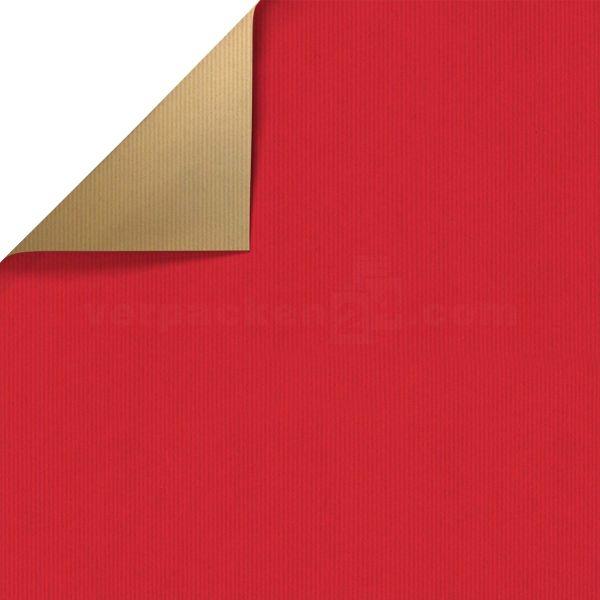 Geschenkpapier, neutral St 36151, Rolle 50 cm - rot/gold