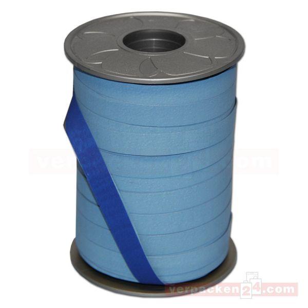Geschenkband auf Rolle - BICOLOUR 200 mtr., 10 mm - hblau/blau
