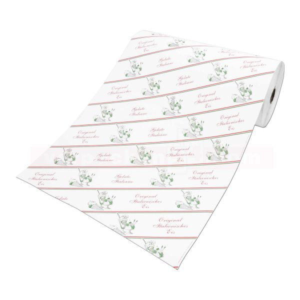 Eispapier - Rolle Einschlagpapier - Italienisches Eis - 50cm
