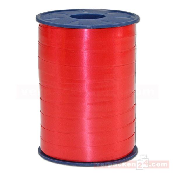 Glanzband auf Rolle 250 mtr., 9 mm - rot (609)