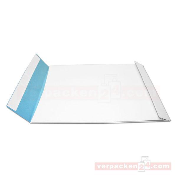 Versandtaschen weiß, 135 g, SKL. o.Fenster - B4 - fadenverstärkt