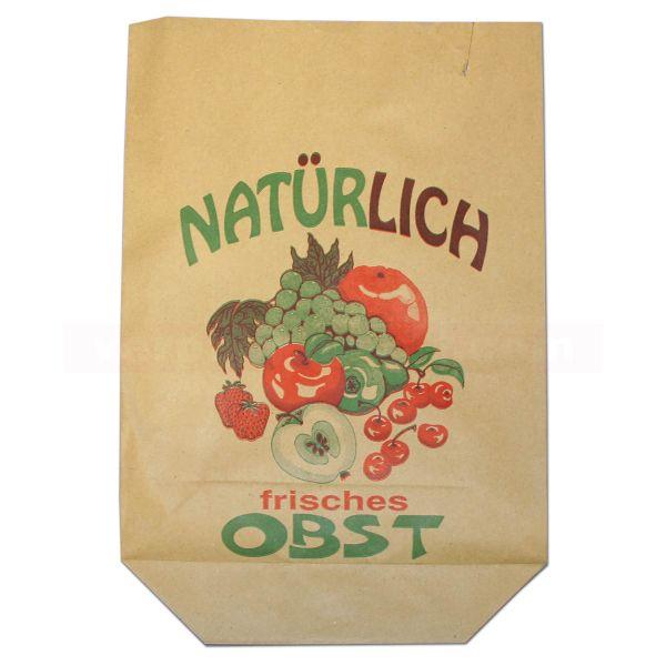 Obstbeutel, braun Natronmisch - Motiv - Natürlich Obst
