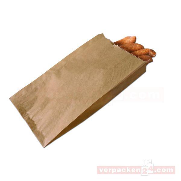 Fleischerfaltenbeutel - braun Natronpapier - ohne Druck