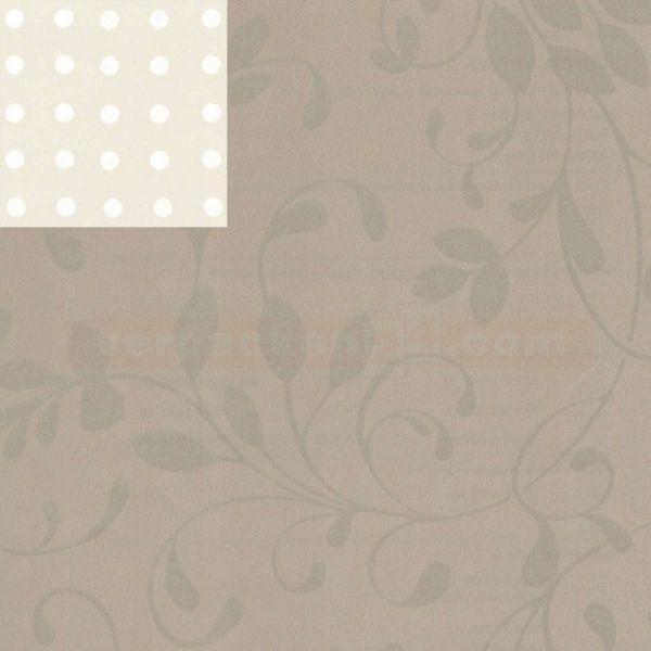 Geschenkpapier, neutral St 916042, Rolle 50 cm - Ranke taupe