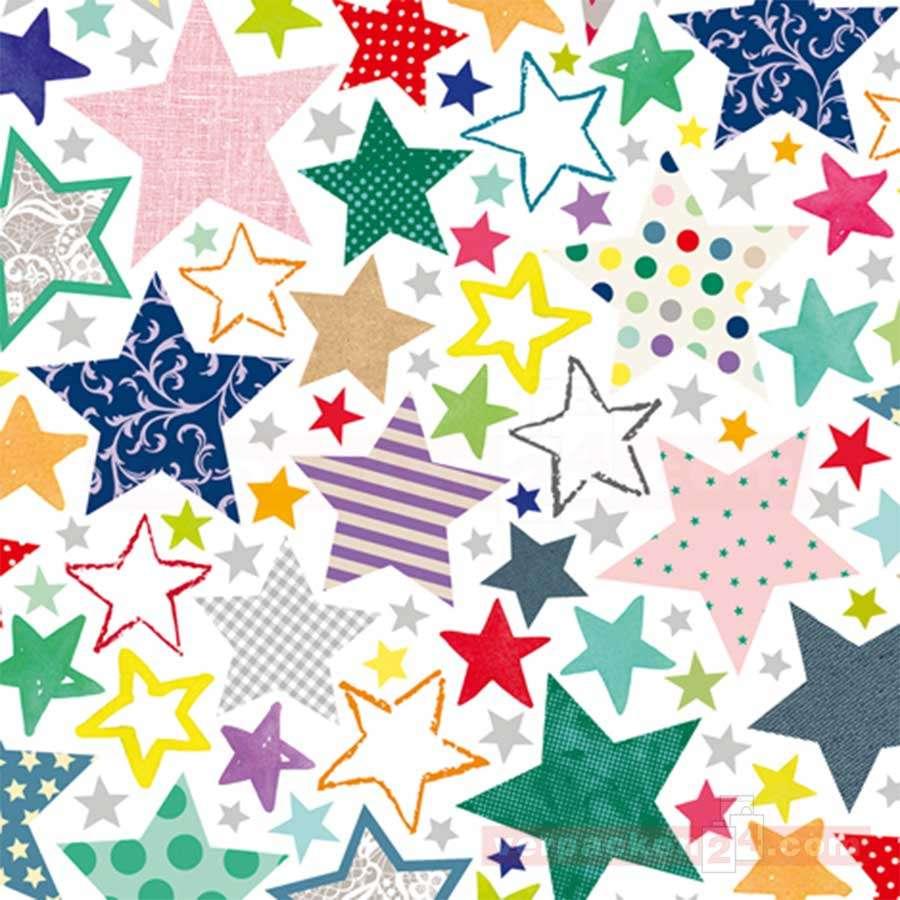 Geschenkpapier Weihnachten Sterne bunt 50cm   verpacken24.com ...