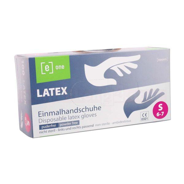 Latex-Einmal - Handschuhe, angerauht - puderfrei