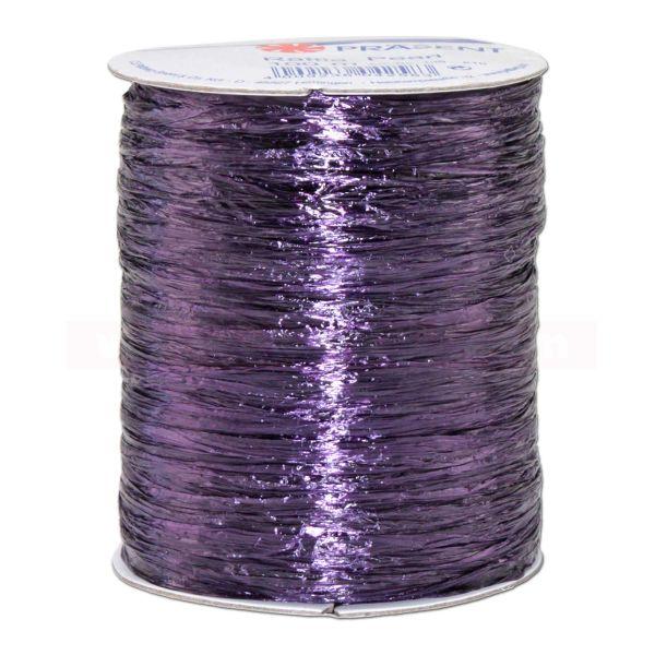 Bastband auf Spule - Raffia PEARL - 100 m - uni violett (610)