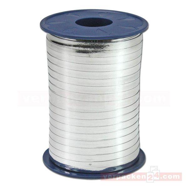Glanzband metallisiert - 5 mm - Rolle 400 m - silber (631)